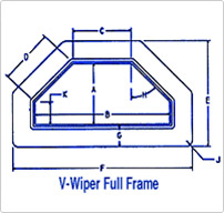 Full Frame V Master Wipe® Way Wipers