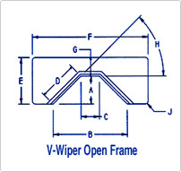 Open V Master Wipe® Wiper